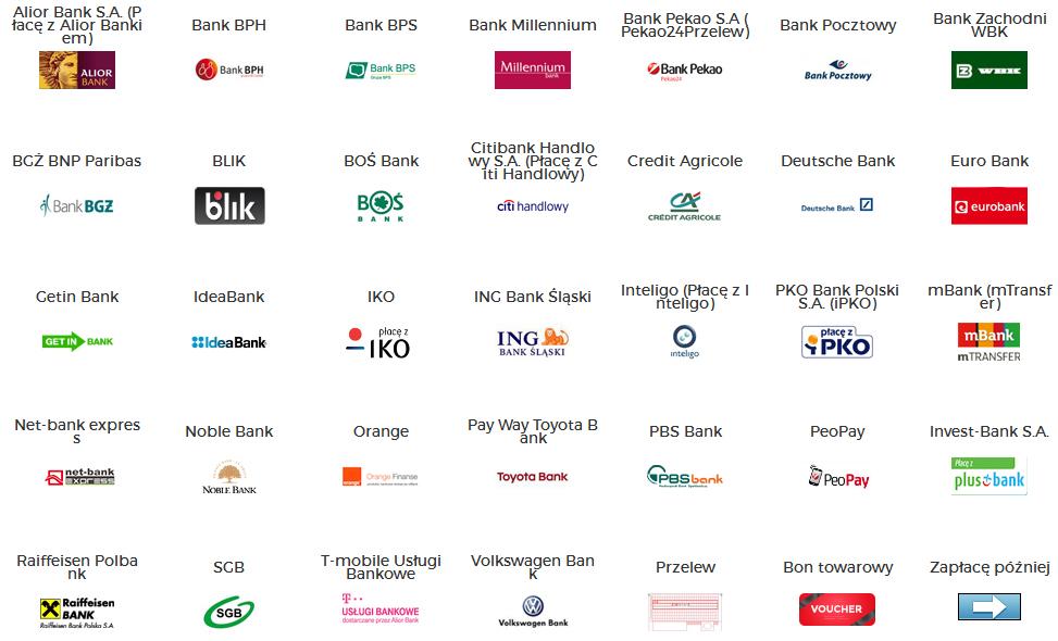 061c075bed5a0 Listę banków obsługiwanych przez system IAI Pay